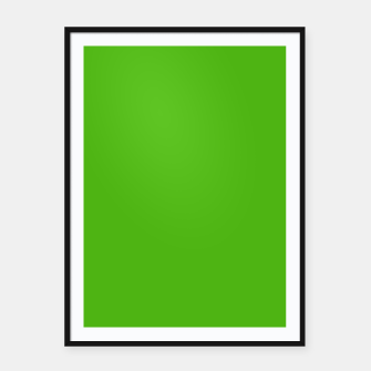 Thumbnail image of Green Flat Color Framed poster, Live Heroes