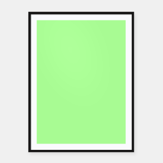 Thumbnail image of Pale Green Flat Color Framed poster, Live Heroes