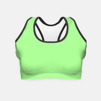 Thumbnail image of Pale Green Flat Color Crop Top, Live Heroes