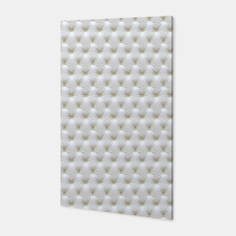 Thumbnail image of Faux White Leather Buttoned Canvas, Live Heroes