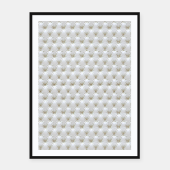 Thumbnail image of Faux White Leather Buttoned Framed poster, Live Heroes