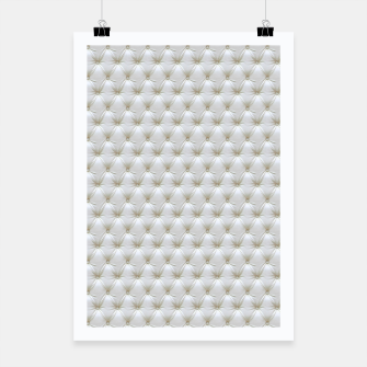 Thumbnail image of Faux White Leather Buttoned Poster, Live Heroes
