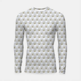 Thumbnail image of Faux White Leather Buttoned Longsleeve rashguard , Live Heroes