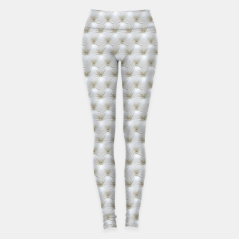 Thumbnail image of Faux White Leather Buttoned Leggings, Live Heroes