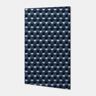Thumbnail image of Faux Midnight Leather Buttoned Canvas, Live Heroes