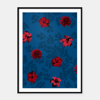 Thumbnail image of Red Flowers Framed poster, Live Heroes