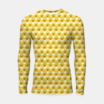 Thumbnail image of Faux Golden Leather Buttoned Longsleeve rashguard , Live Heroes