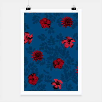 Thumbnail image of Red Flowers Poster, Live Heroes