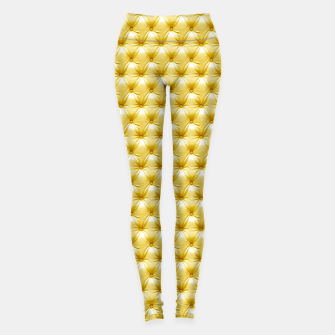 Thumbnail image of Faux Golden Leather Buttoned Leggings, Live Heroes