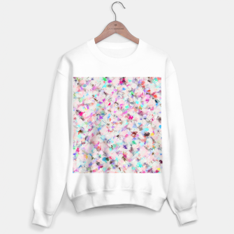 Thumbnail image of splash painting texture abstract background in pink blue yellow red Sweater regular, Live Heroes