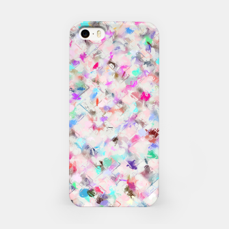 Thumbnail image of splash painting texture abstract background in pink blue yellow red iPhone Case, Live Heroes