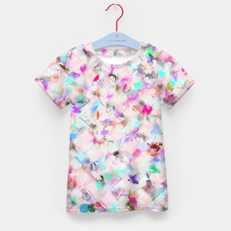 Thumbnail image of splash painting texture abstract background in pink blue yellow red Kid's t-shirt, Live Heroes