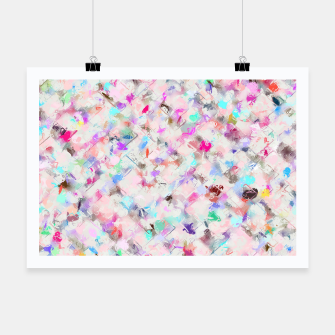 Thumbnail image of splash painting texture abstract background in pink blue yellow red Poster, Live Heroes