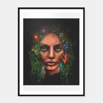Miniatur One With Nature | The Rainforest Framed poster, Live Heroes