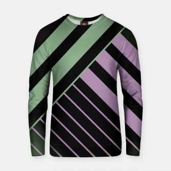 Miniaturka Green and Violet Stripes on Black Cotton sweater, Live Heroes