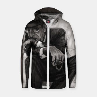 Leonard Cohen Cotton zip up hoodie thumbnail image