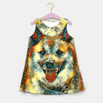 Thumbnail image of AnimalArt_Dog_20170804_by_JAMColors Girl's summer dress, Live Heroes