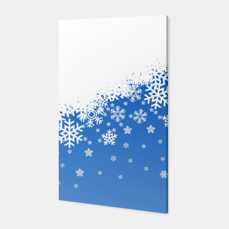 Thumbnail image of Blue Snowflakes Canvas, Live Heroes