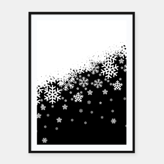 Thumbnail image of Dark Snowflakes Framed poster, Live Heroes