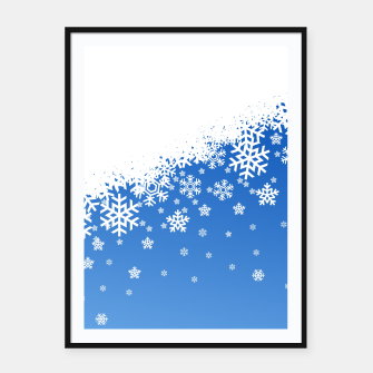Miniaturka Blue Snowflakes Framed poster, Live Heroes