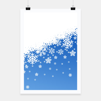 Miniaturka Blue Snowflakes Poster, Live Heroes