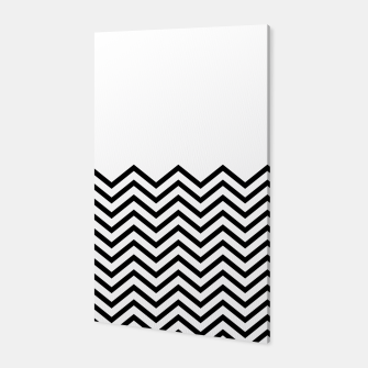 Miniaturka White Solid and Chevron Canvas, Live Heroes