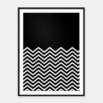Miniaturka Black Solid and Chevron Framed poster, Live Heroes