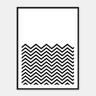 Miniaturka White Solid and Chevron Framed poster, Live Heroes