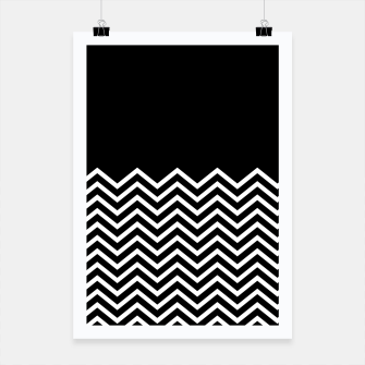 Miniaturka Black Solid and Chevron Poster, Live Heroes