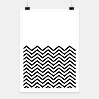 Miniaturka White Solid and Chevron Poster, Live Heroes