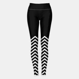Miniaturka Black Solid and Chevron Leggings, Live Heroes