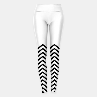 Miniaturka White Solid and Chevron Leggings, Live Heroes