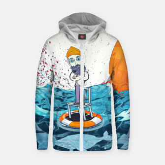 Thumbnail image of Whale Cotton zip up hoodie, Live Heroes