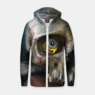 Thumbnail image of Butterfly Skull Cotton zip up hoodie, Live Heroes