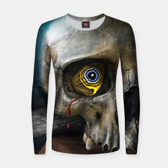 Thumbnail image of Butterfly Skull Woman cotton sweater, Live Heroes