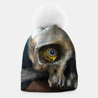 Thumbnail image of Butterfly Skull Beanie, Live Heroes