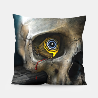 Thumbnail image of Butterfly Skull Pillow, Live Heroes