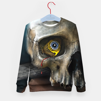Thumbnail image of Butterfly Skull Kid's sweater, Live Heroes