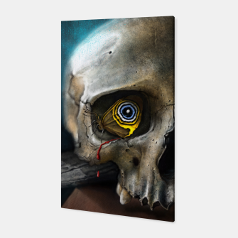 Thumbnail image of Butterfly Skull Canvas, Live Heroes