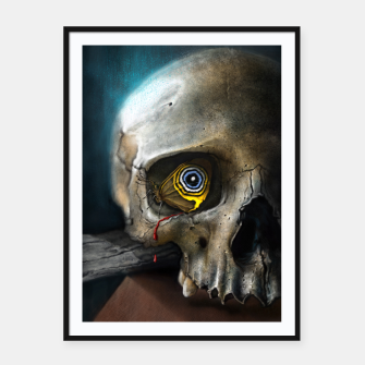 Thumbnail image of Butterfly Skull Framed poster, Live Heroes