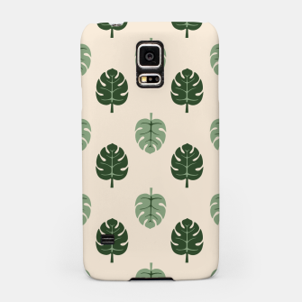 Thumbnail image of Tropical leaves Monstera deliciosa beige Samsung Case, Live Heroes