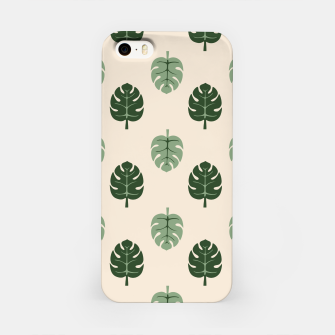 Thumbnail image of Tropical leaves Monstera deliciosa beige iPhone Case, Live Heroes