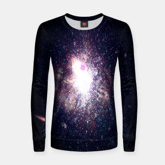 Miniaturka Galaxy Space Eye Of the Universe Woman cotton sweater, Live Heroes