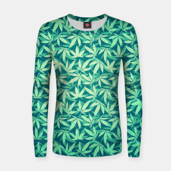 Miniatur Cannabis / Hemp / 420 / Marijuana  - Pattern Woman cotton sweater, Live Heroes