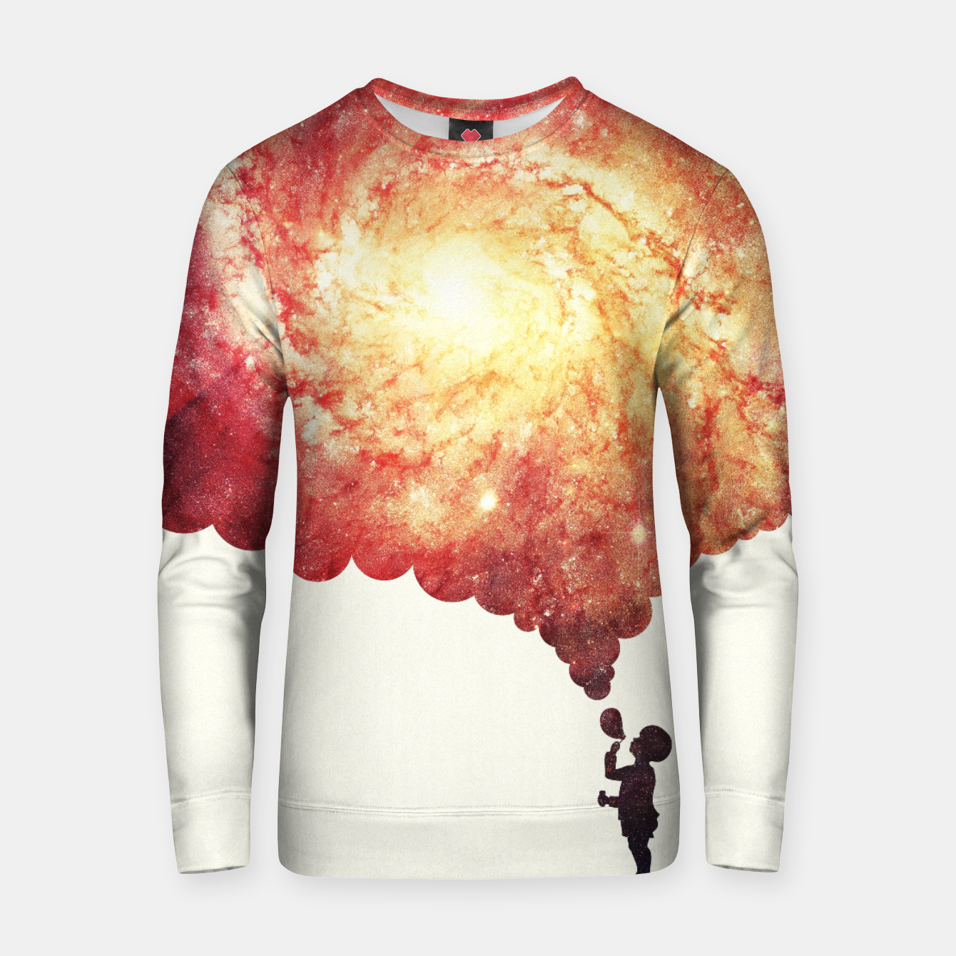 Image de The universe in a soap-bubble! (Awesome Space / Nebula / Galaxy Negative Space Artwork) Cotton sweater - Live Heroes