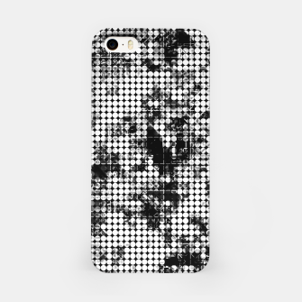 Miniaturka psychedelic circle pattern painting abstract background in black and white iPhone Case, Live Heroes