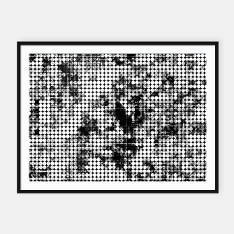 Miniaturka psychedelic circle pattern painting abstract background in black and white Framed poster, Live Heroes