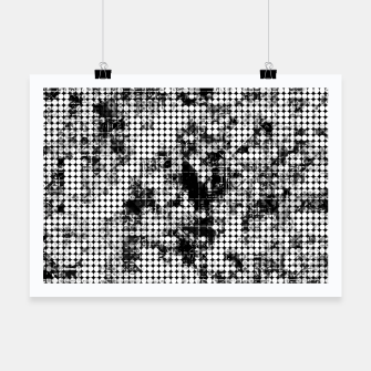 Miniaturka psychedelic circle pattern painting abstract background in black and white Poster, Live Heroes