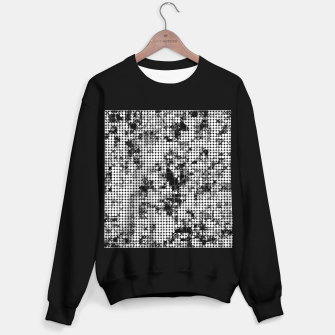 Miniaturka psychedelic circle pattern painting abstract background in black and white Sweater regular, Live Heroes