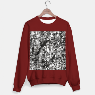 Miniaturka psychedelic geometric square pattern abstract background in black and white Sweater regular, Live Heroes